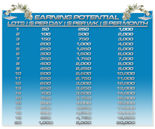 5 Pips A Day Earnings Potential