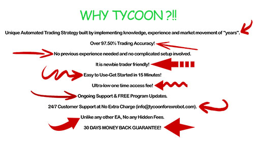 Tycoon Forex Robot Features