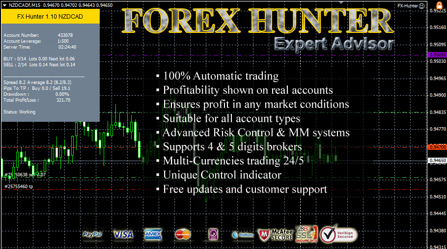 Forex Hunter Expert Advisor Screenshot
