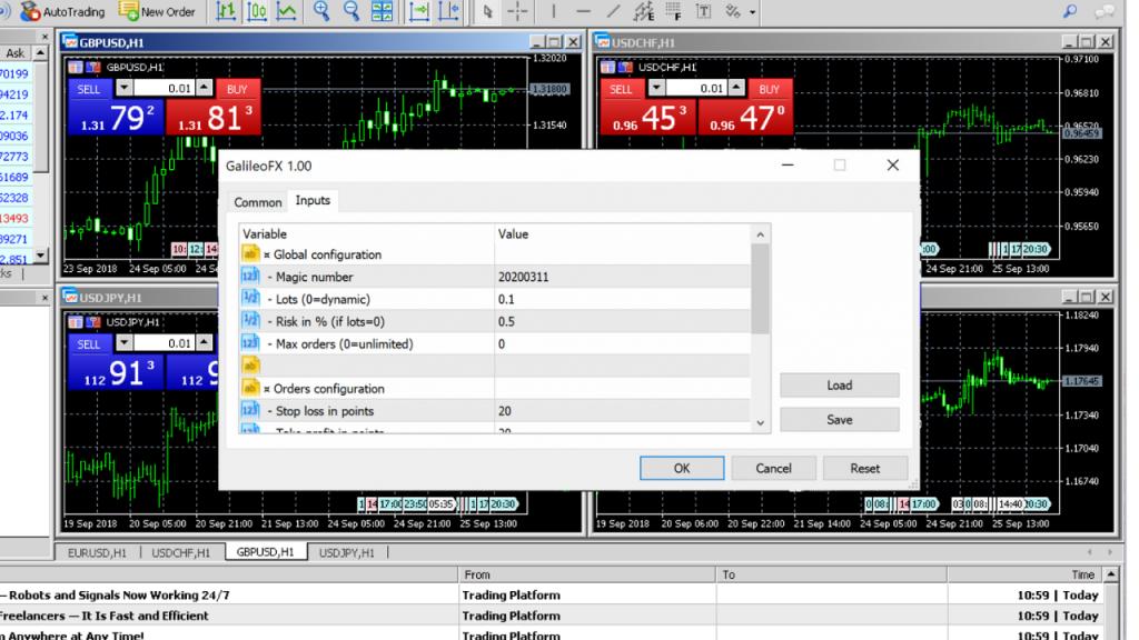 Galileo FX Input Settings