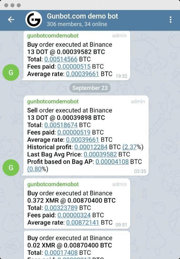 Gunbot Telegram Integration