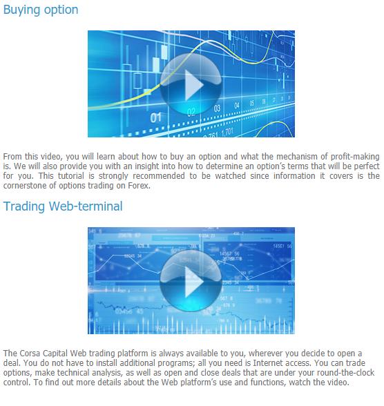 Corsa Capital Review Video Tutorials