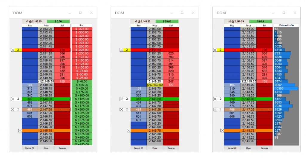 MultiCharts Depth of Market (DOM)