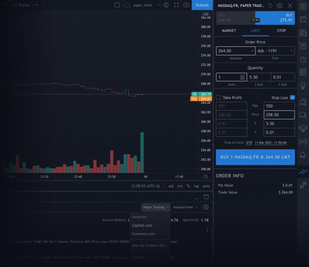 TradingView Brokers
