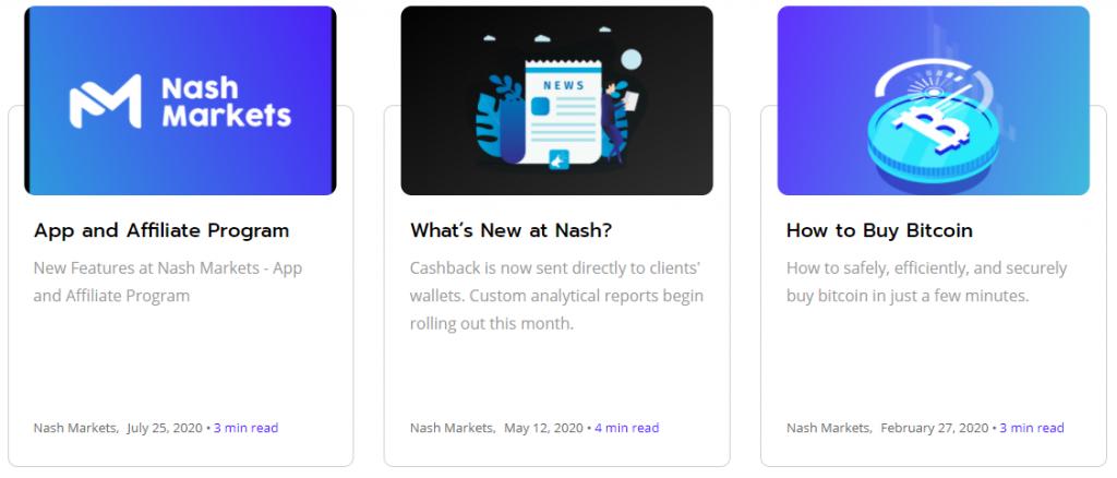 Nash Markets Review News